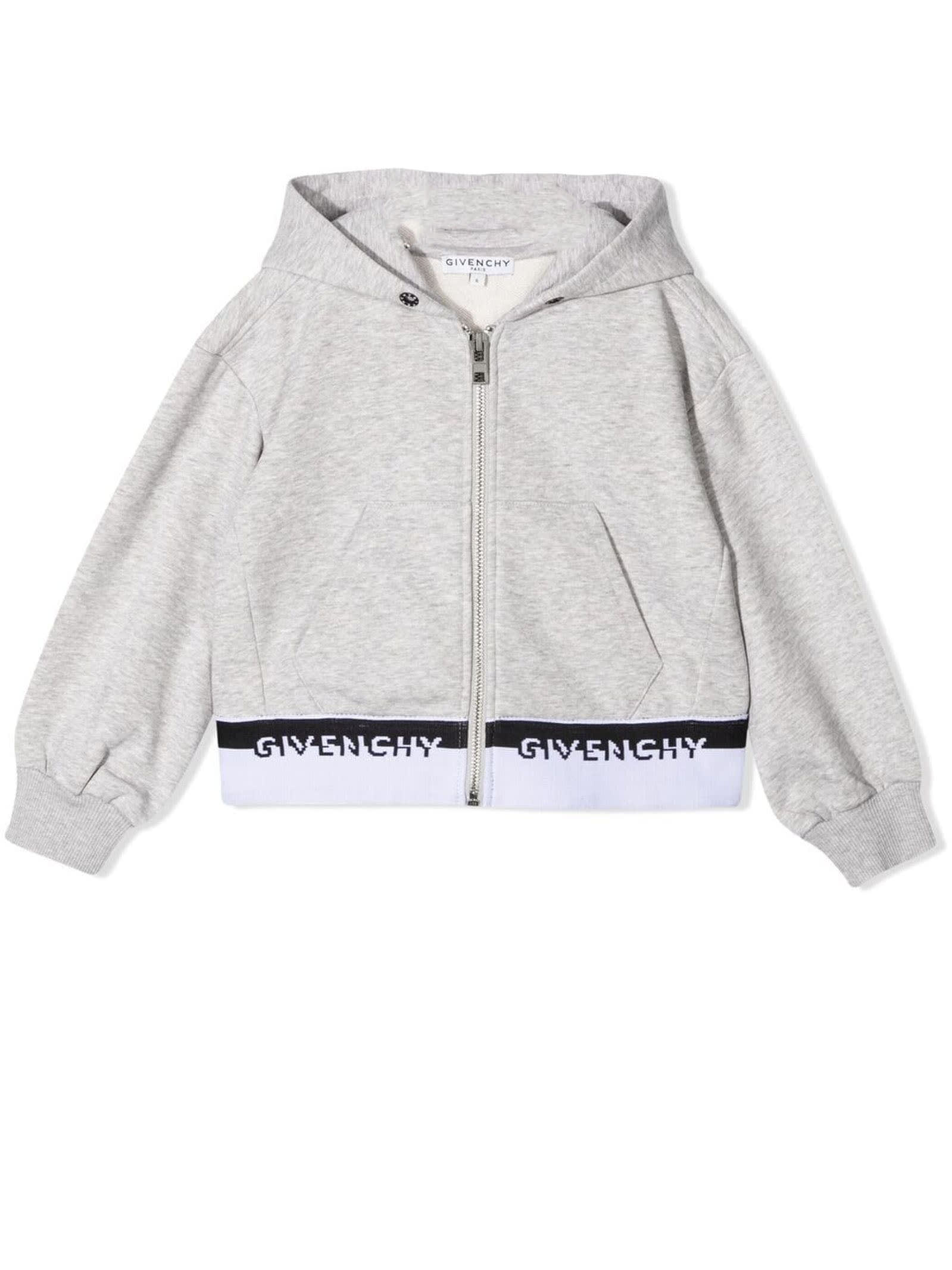 Givenchy GREY COTTON BLEND HOODIE