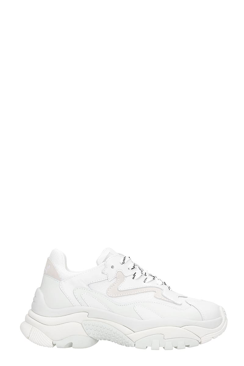 Ash ADDICT 12 SNEAKERS IN WHITE LEATHER