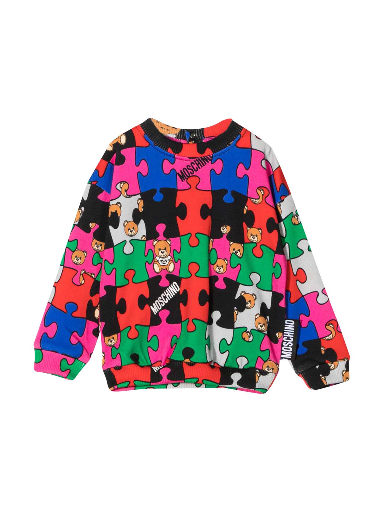 Multicolor press sweatshirt 100% cotton