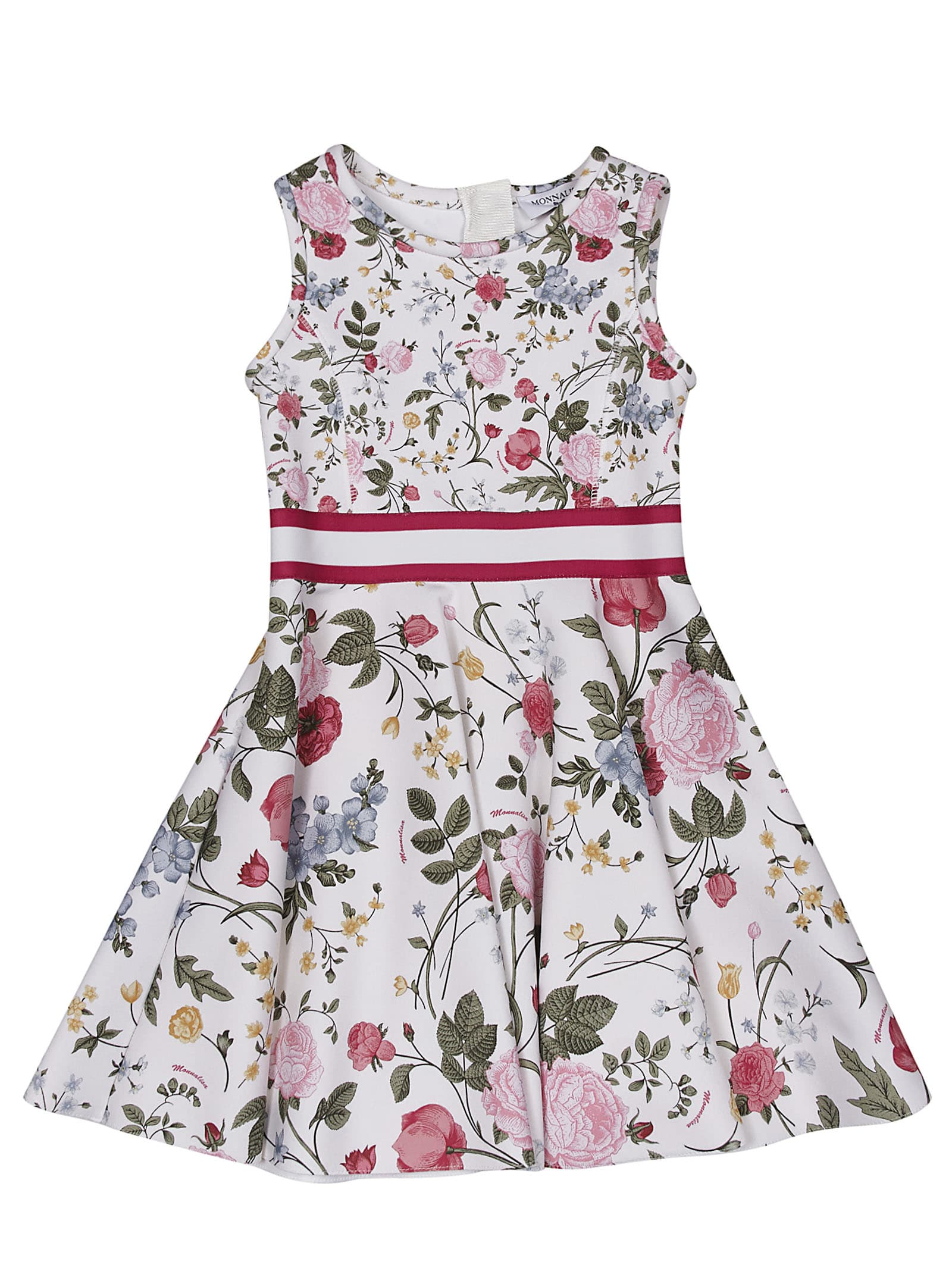 Buy Monnalisa Printed Sleeveless Dress online, shop Monnalisa with free shipping