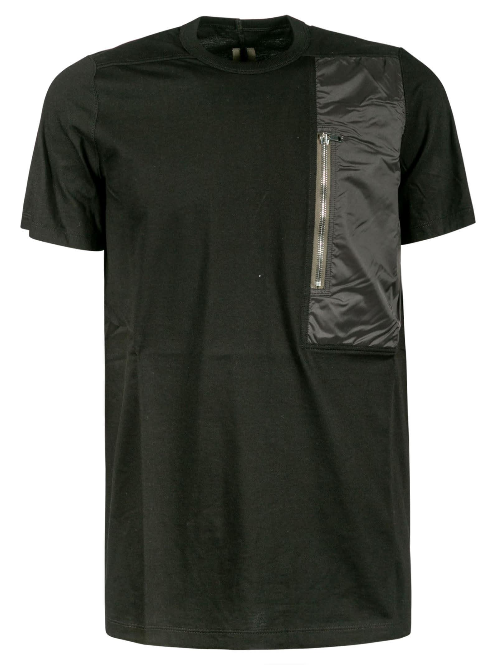 Rick Owens T-shirts SIDE ZIP POCKET DETAIL T-SHIRT