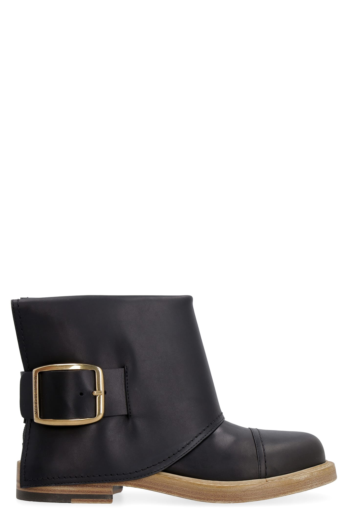 Alexander McQueen Leather Ankle-boots With Buckle