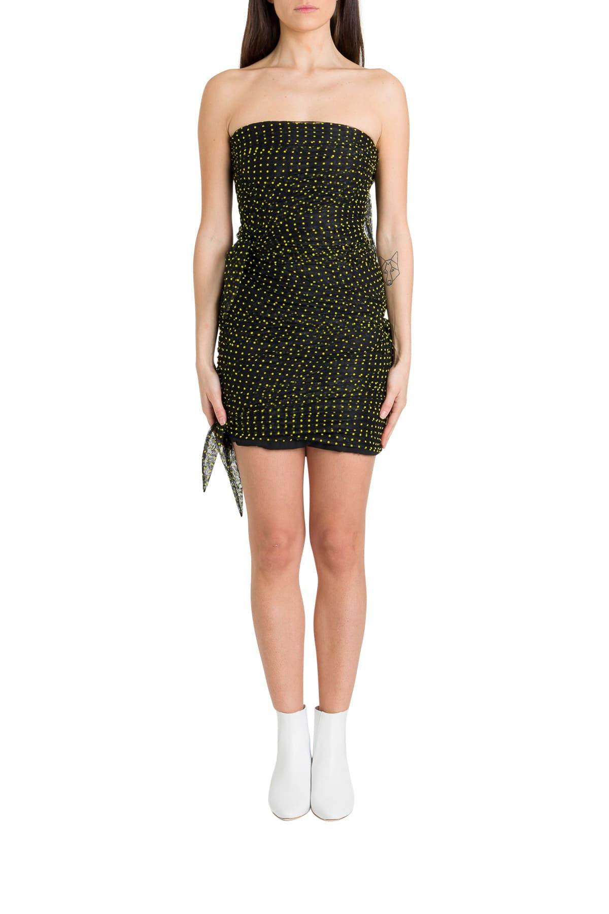 Buy Philosophy di Lorenzo Serafini Polka Dots Sheath Dress In Plumetis online, shop Philosophy di Lorenzo Serafini with free shipping