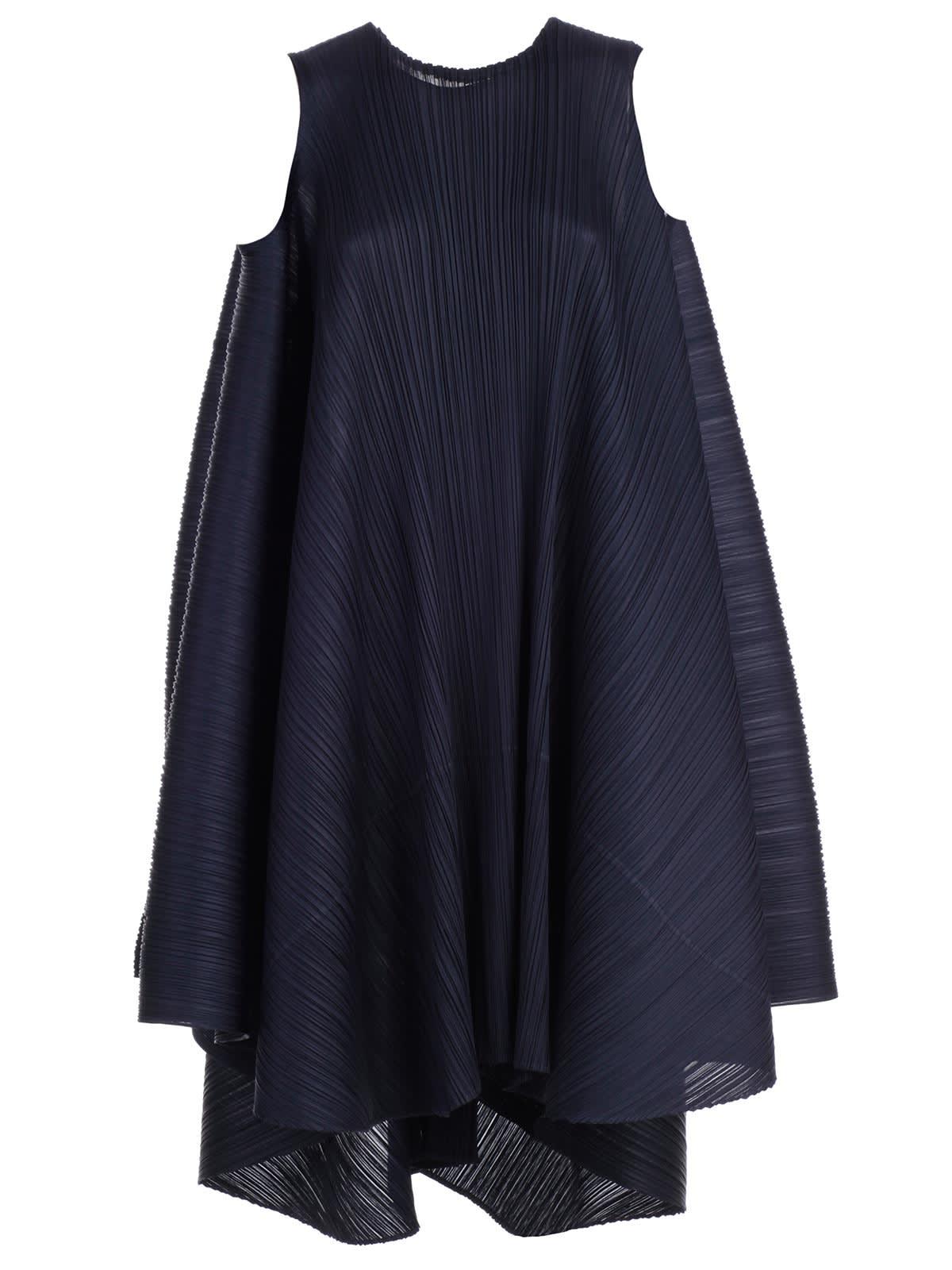 Pleats Please Issey Miyake Dress W & s Crew Neck