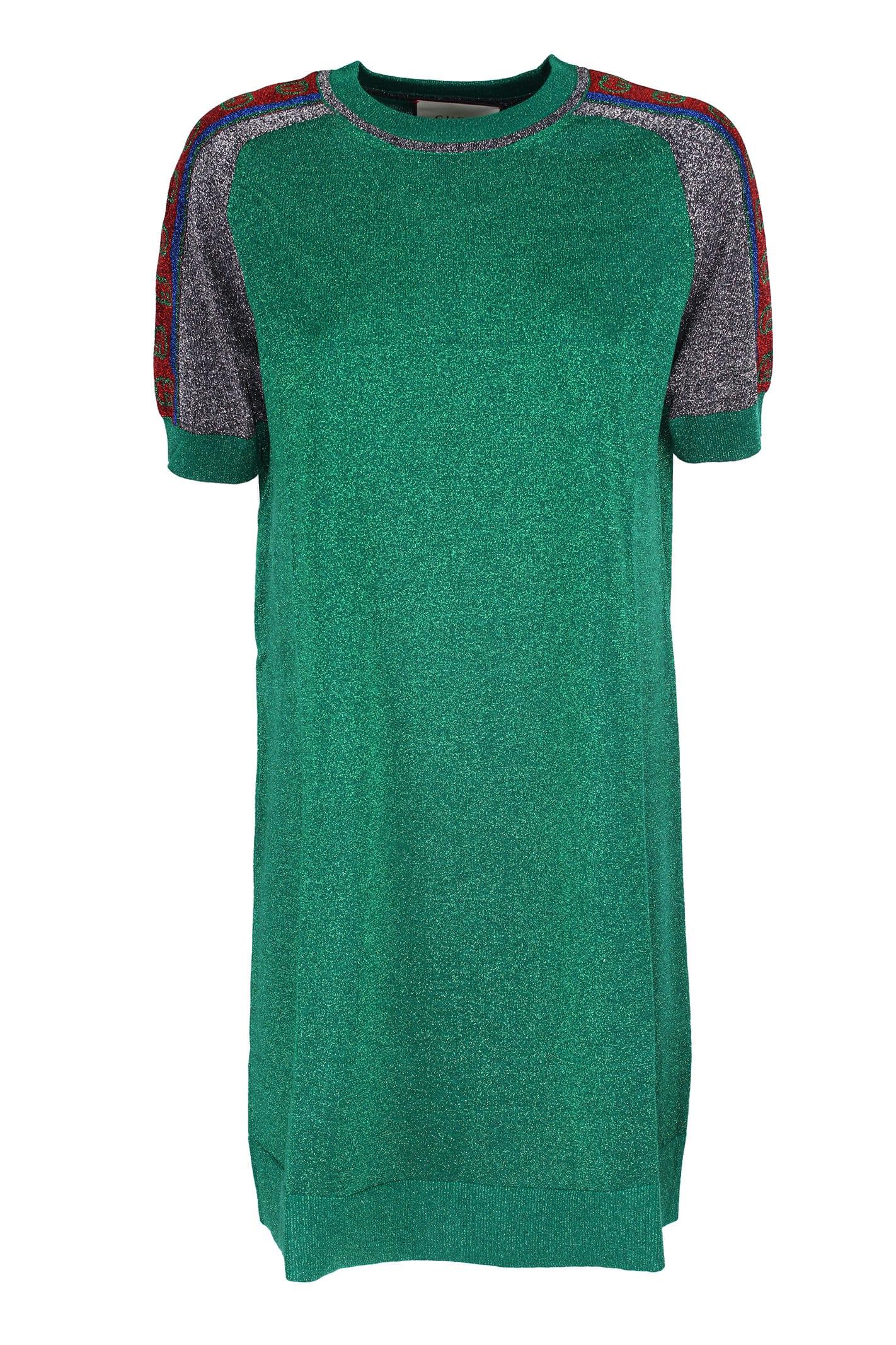 Gucci Lamé mini dress
