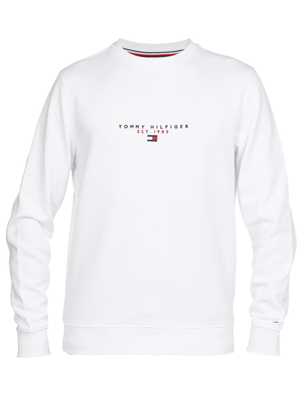 Tommy Hilfiger Cotton Logo Sweatshirt In White