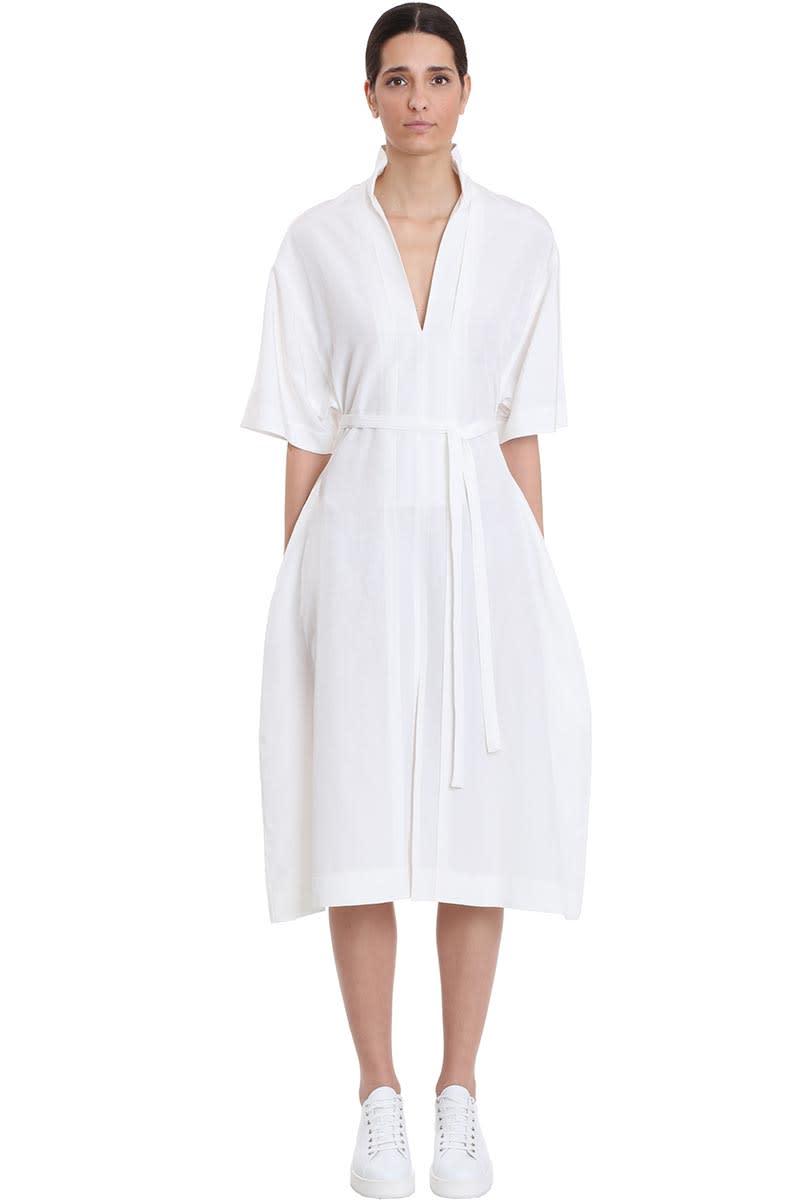 Buy Jil Sander Minerva Af Dress In Beige Viscose online, shop Jil Sander with free shipping