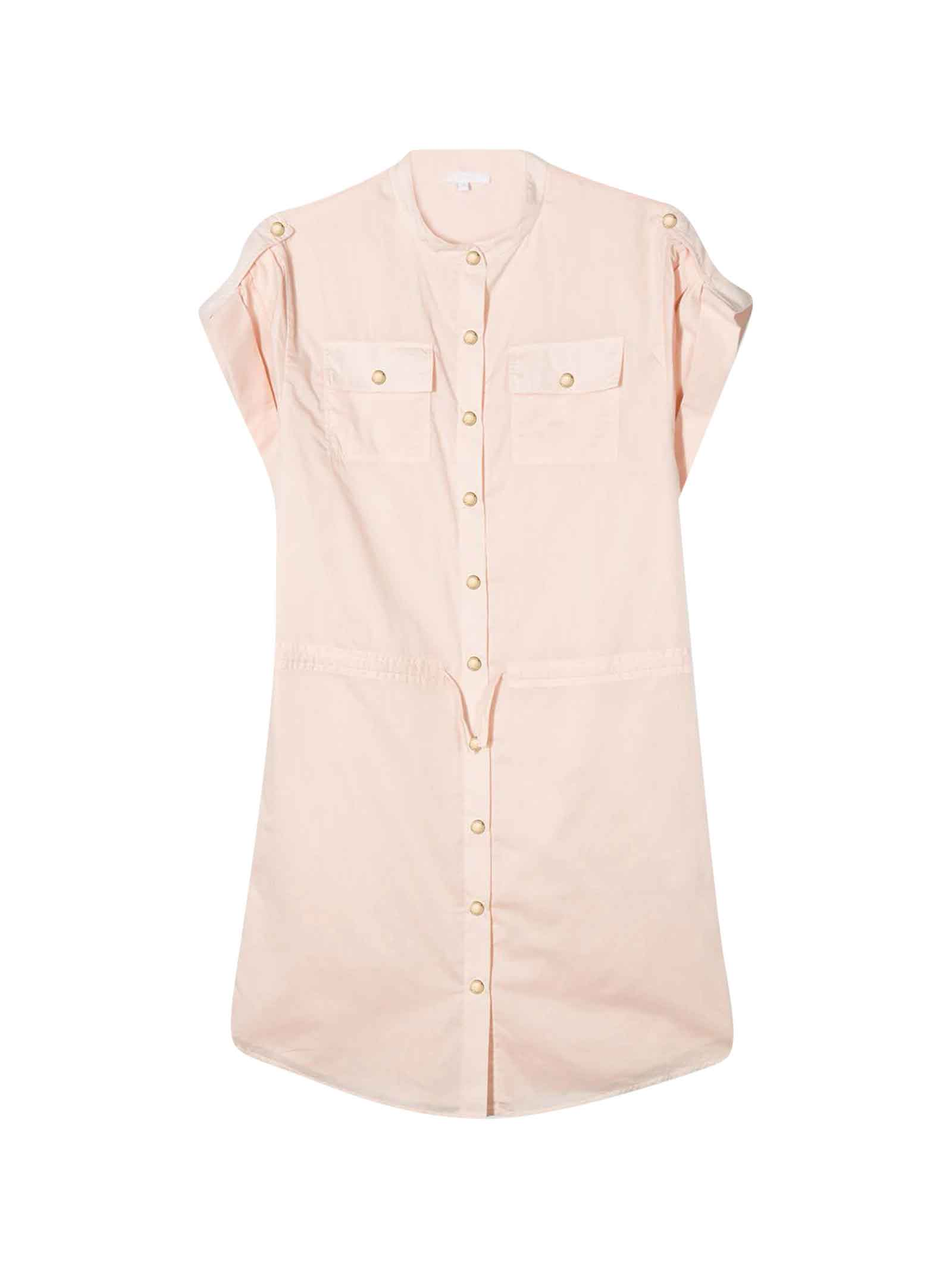 Buy Chloé Pink Dress With Frontal Buttons Chloé Kids online, shop Chloé with free shipping