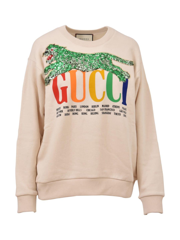 Gucci Gucci Oversize Crewneck Sweatshirt - White - 10674076