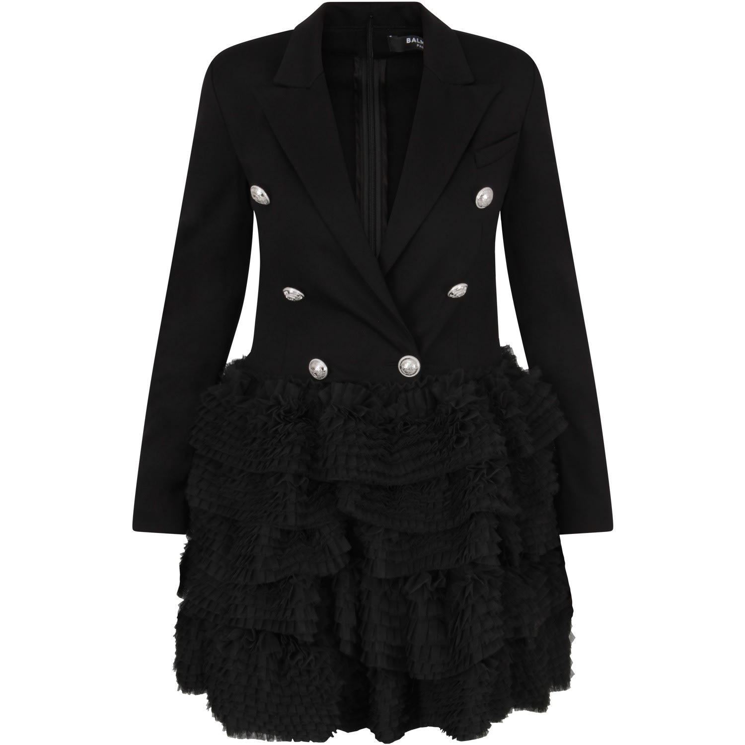 Buy Balmain Black Girl Dress online, shop Balmain with free shipping