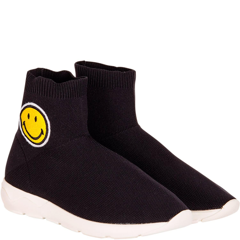Black Smile Sanders Socks With Sneaker Joshua f6b7vYyg