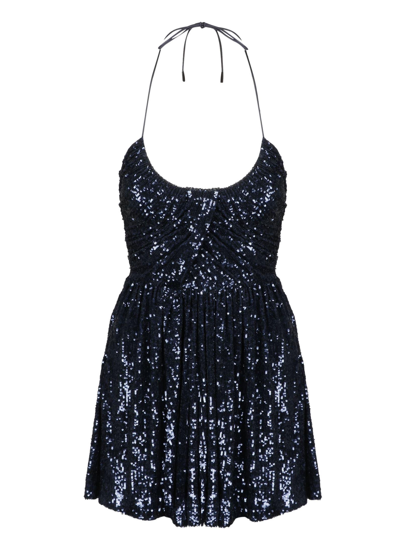 Buy Saint Laurent Paillettes Minidress online, shop Saint Laurent with free shipping