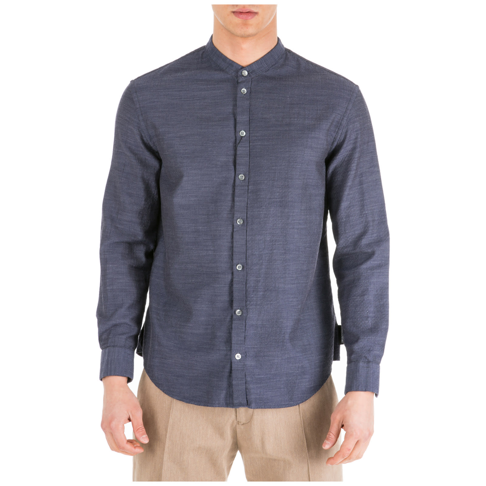 professional cheap performance sportswear Best price on the market at italist | Emporio Armani Emporio Armani Long  Sleeve Shirt Dress Shirt