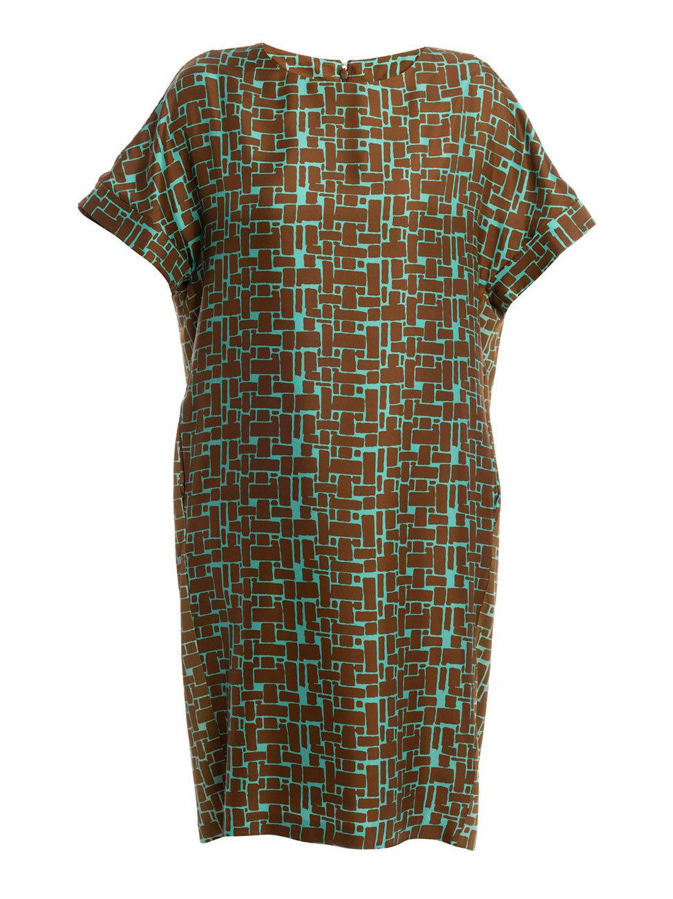Buy Via Masini 80 Fantasy Silk Dress online, shop Via Masini 80 with free shipping