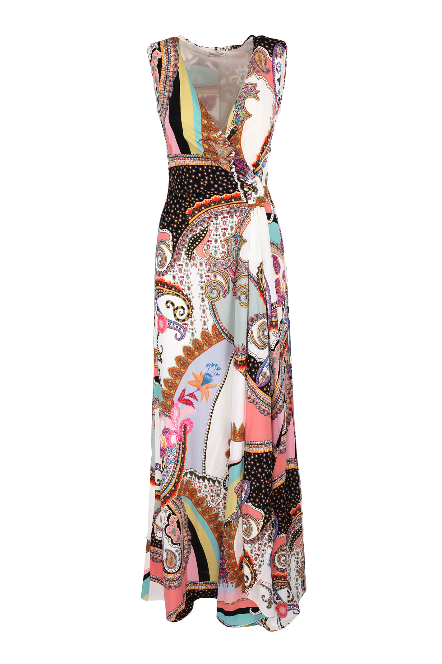 Buy Etro long jersey dress online, shop Etro with free shipping