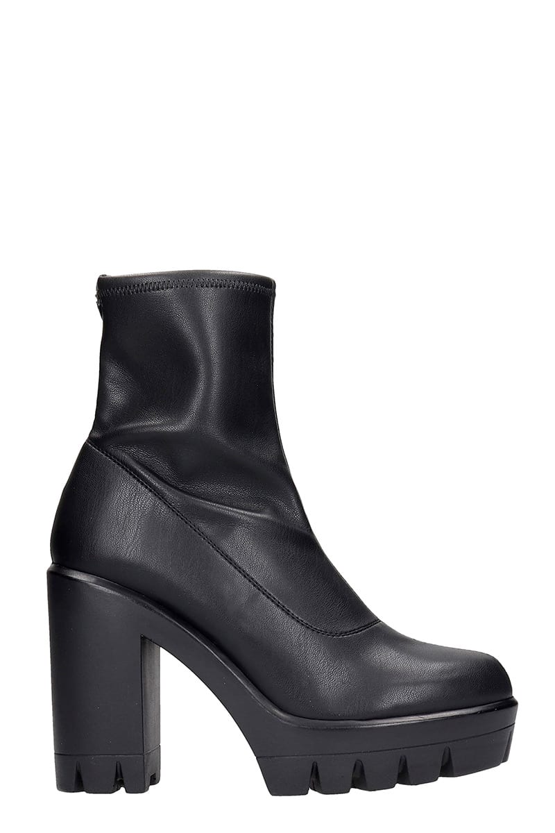Giuseppe Zanotti Ankle Boots In Black Leather