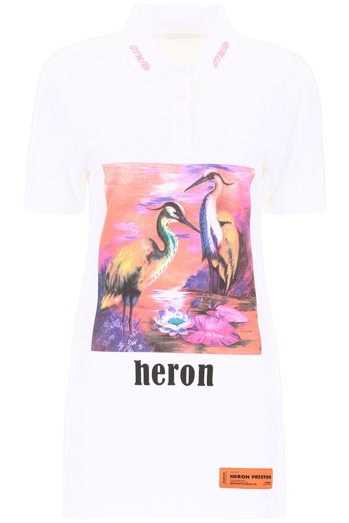 HERON PRESTON Printed Polo Dress