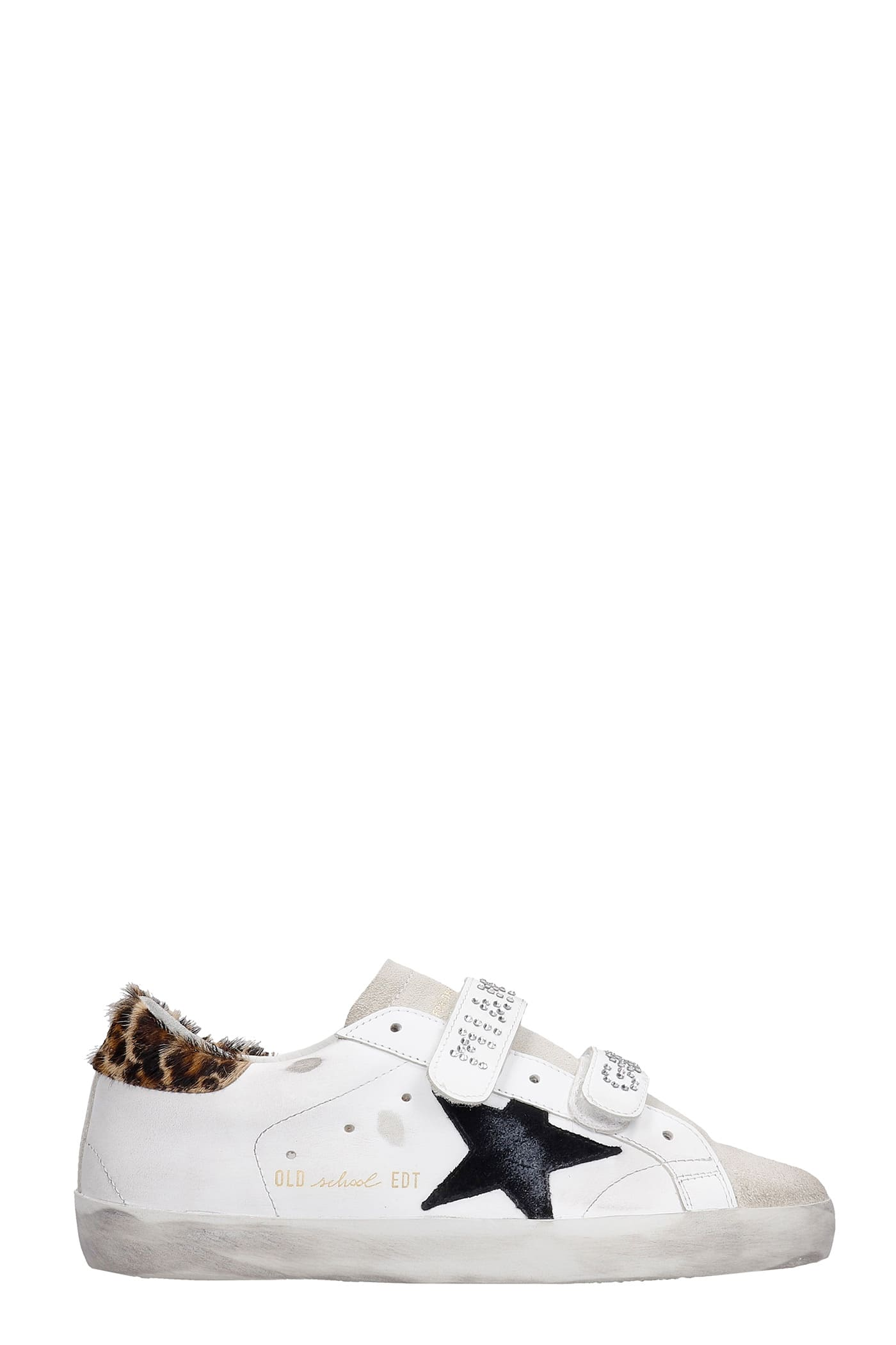 Golden Goose Old School Sneakers In White Suede And Leather