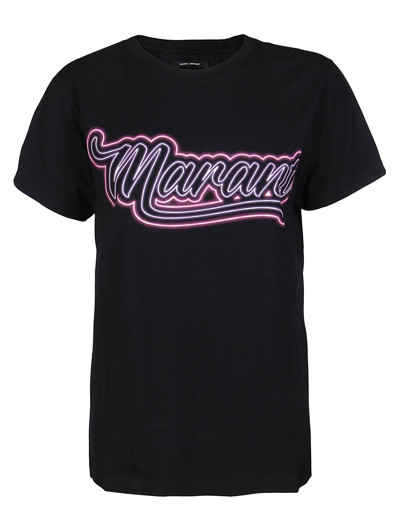Isabel Marant Cottons BLACK COTTON T-SHIRT
