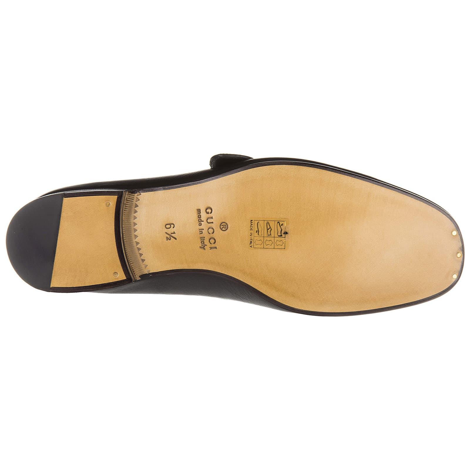 1e16babcd Gucci Gucci Leather Loafers Moccasins Quentin - Nero - 11002258 ...
