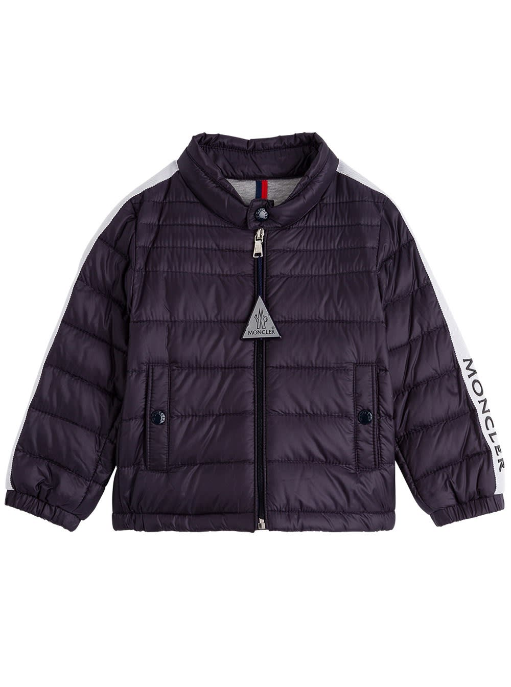 Moncler Alber Down Jacket In Blue Nylon