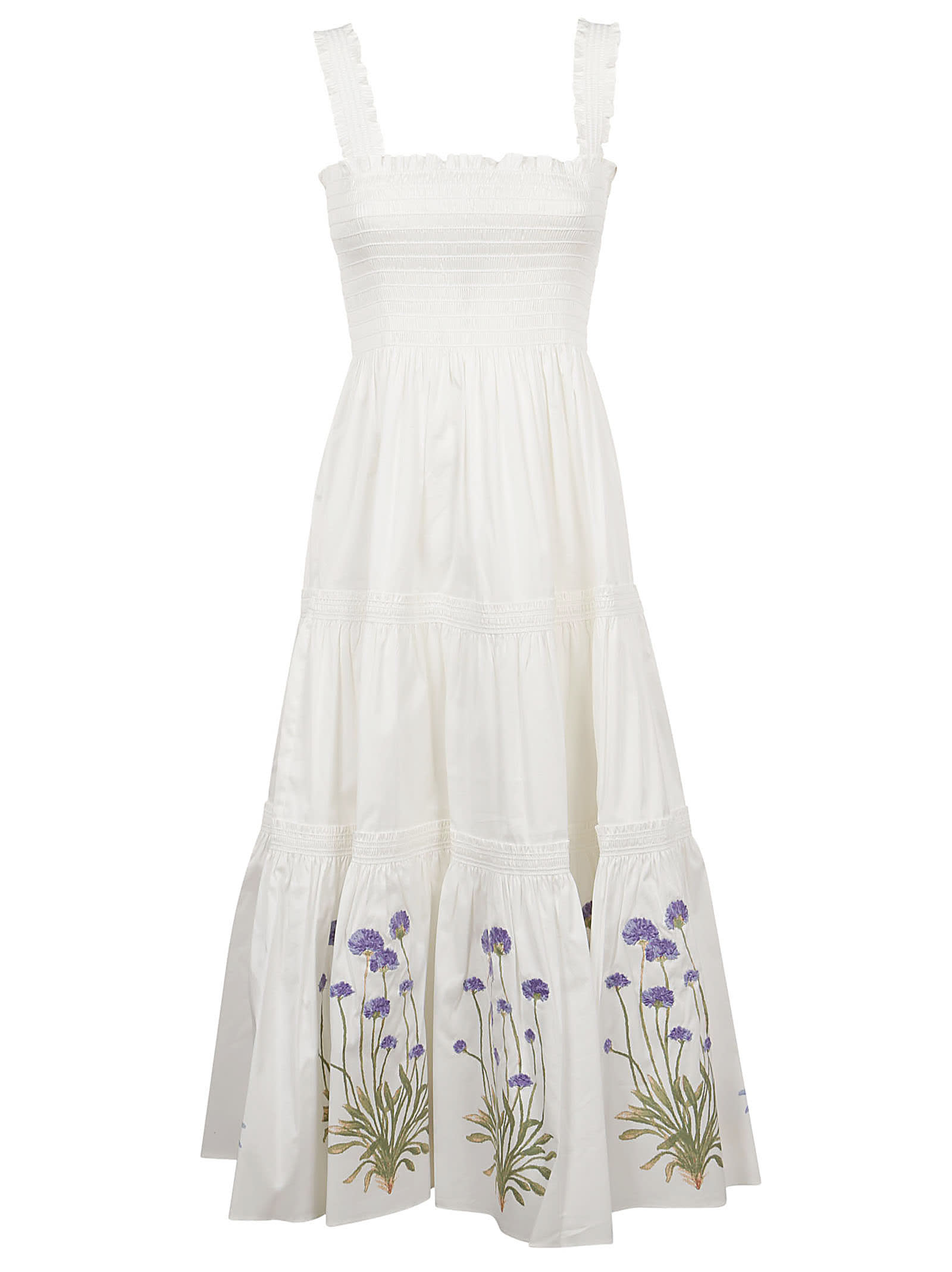 Buy Embroidered Midi Dress online, shop Tory Burch with free shipping