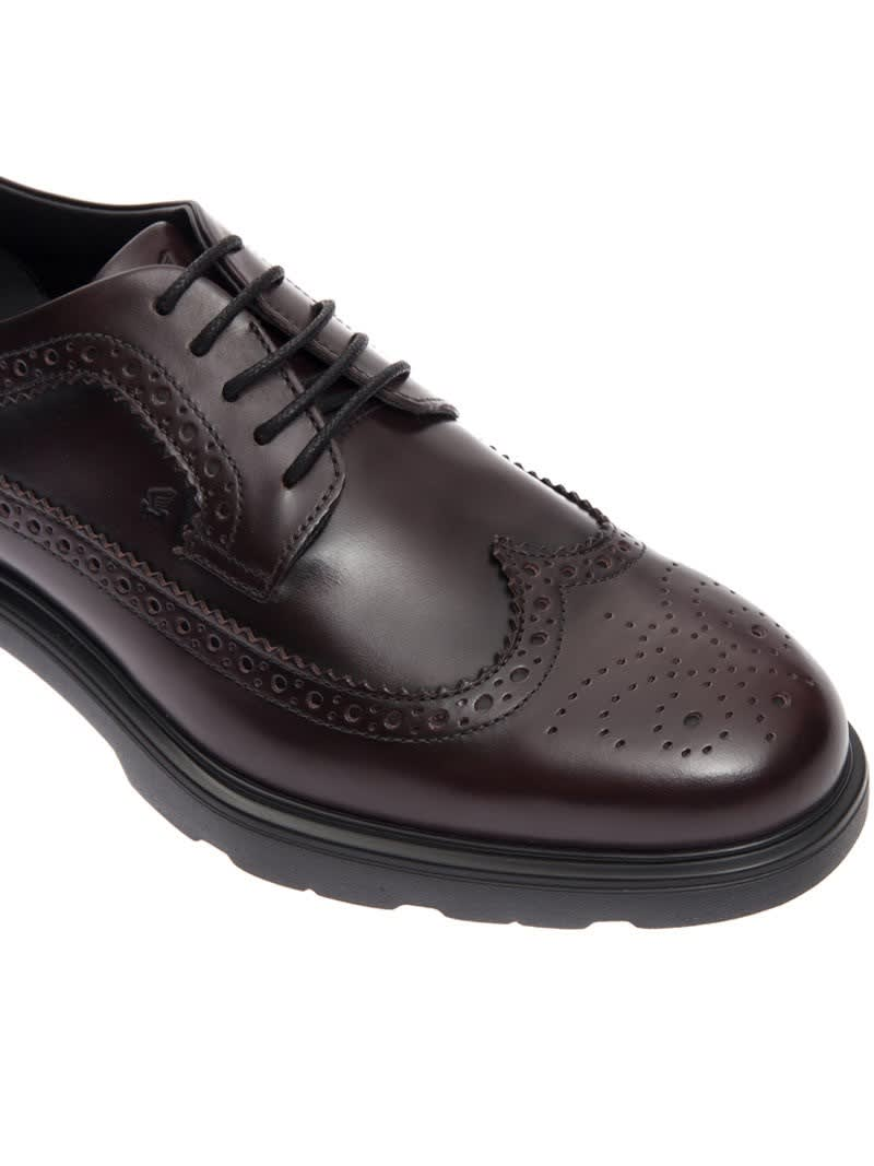 Hogan Hogan H304 New Route Derby Shoes Bordeaux 8153445