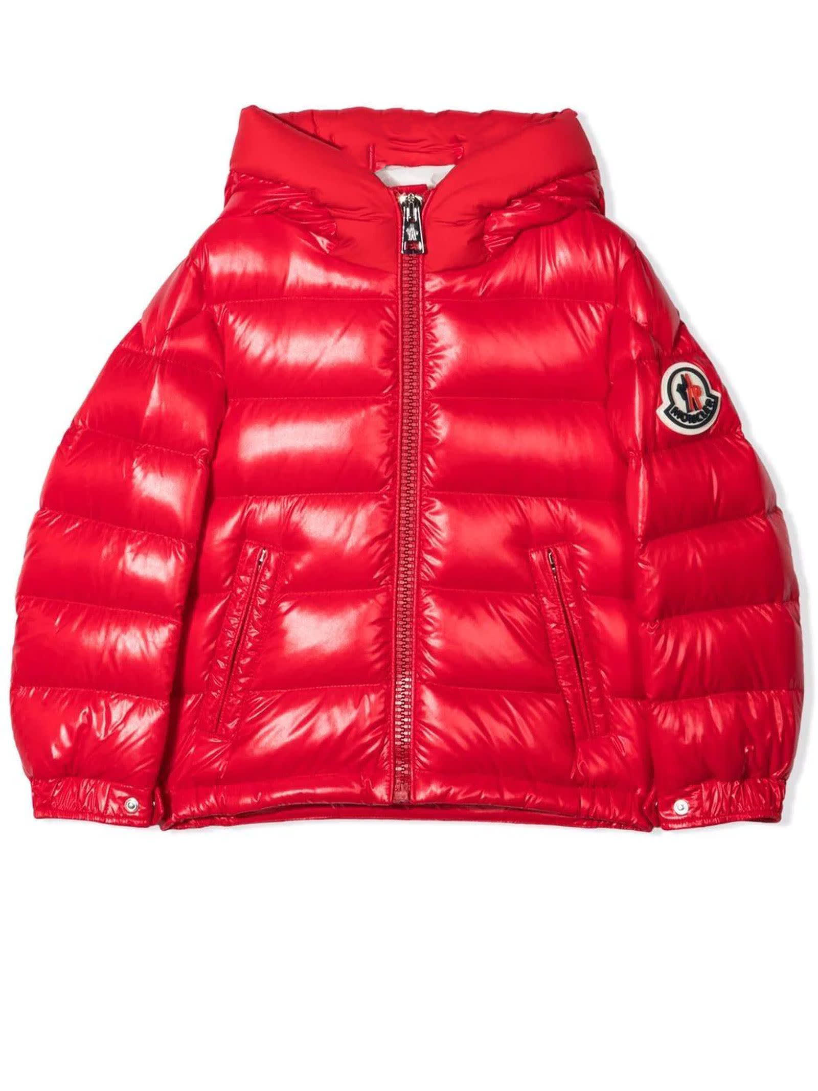 Moncler Cherry Red Puffer Jacket