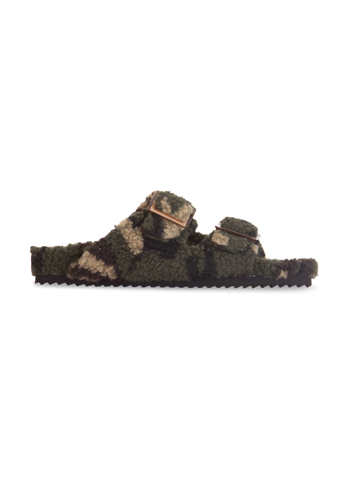 Double Band Slipper With Buckles