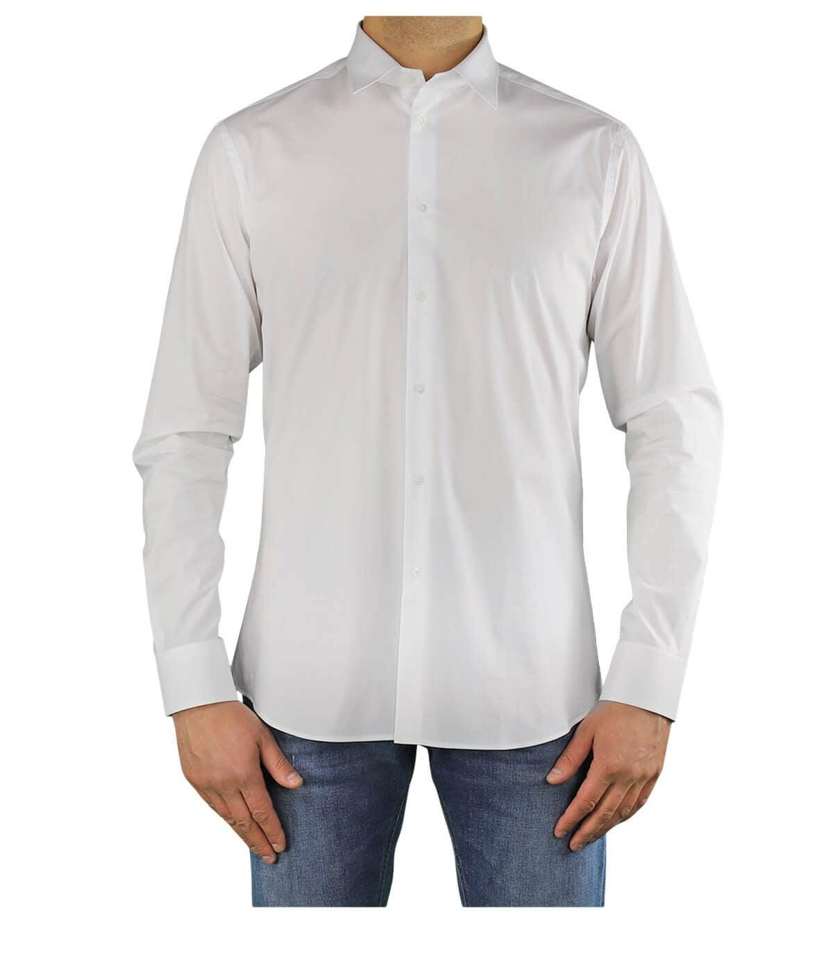 Paolo Pecora Cottons WHITE POPELINE SHIRT