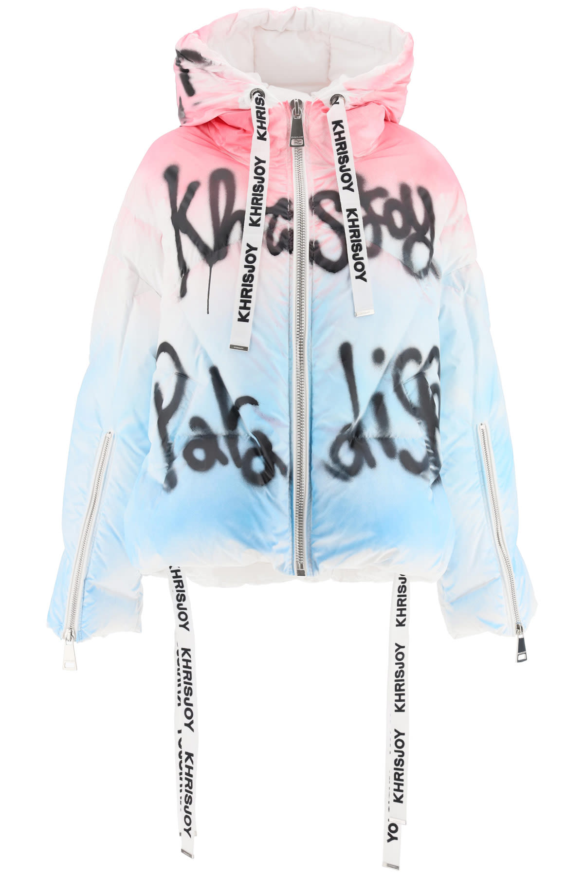 Khrisjoy Graffiti Print Khris Puffer Jacket