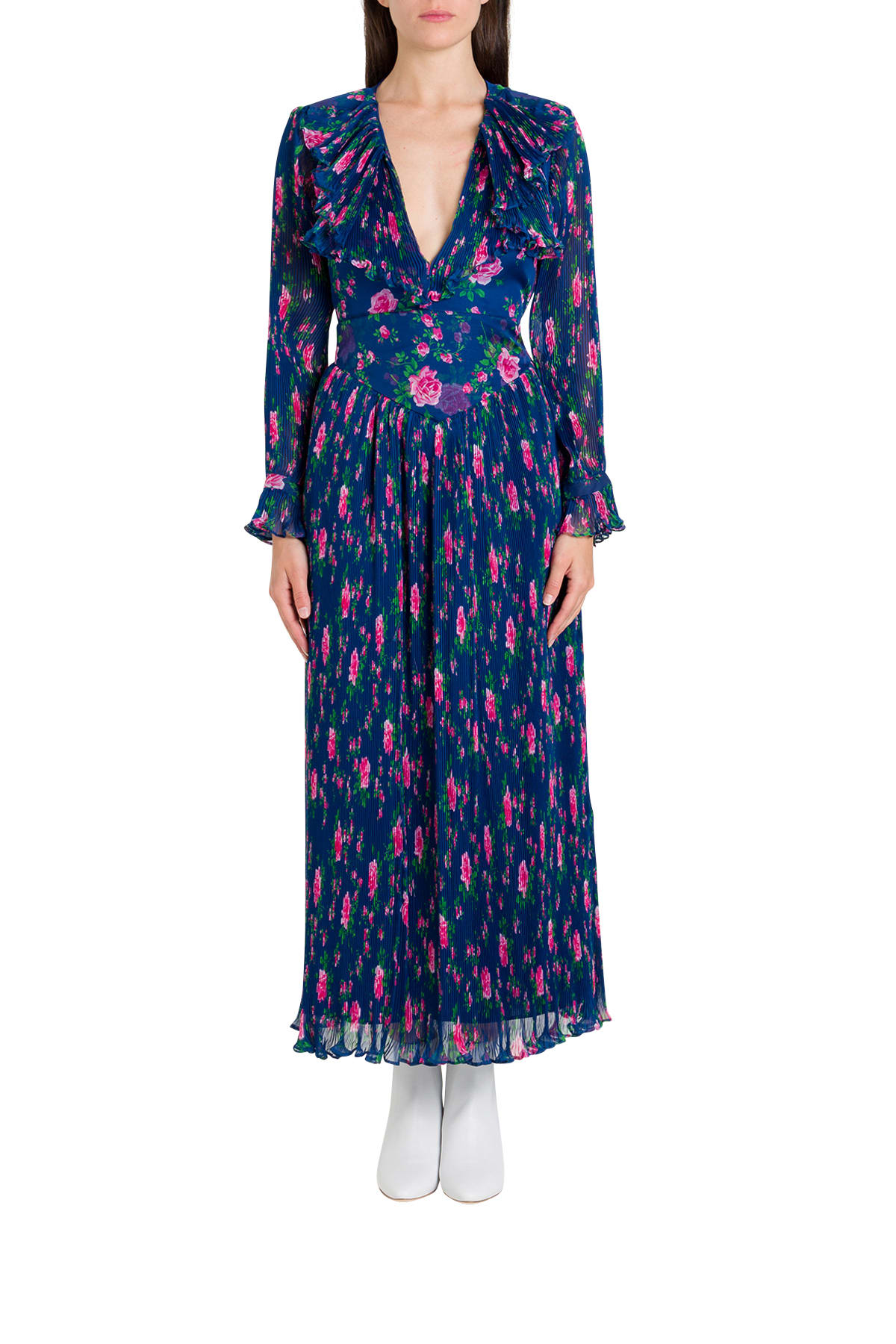 Buy Philosophy di Lorenzo Serafini Maxi Dress In Floral Voile online, shop Philosophy di Lorenzo Serafini with free shipping