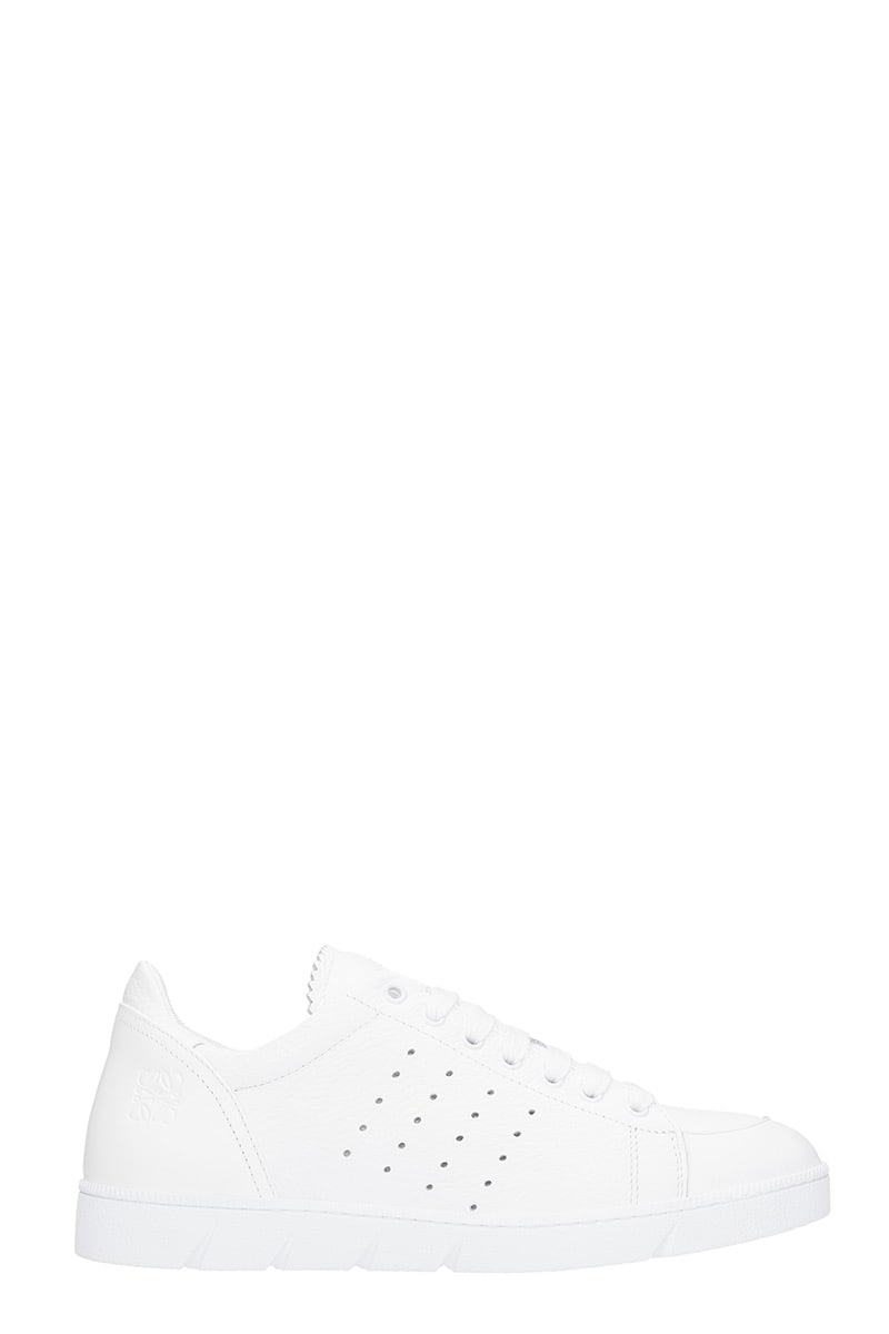 Loewe SOFT SNEAKER SNEAKERS IN WHITE LEATHER