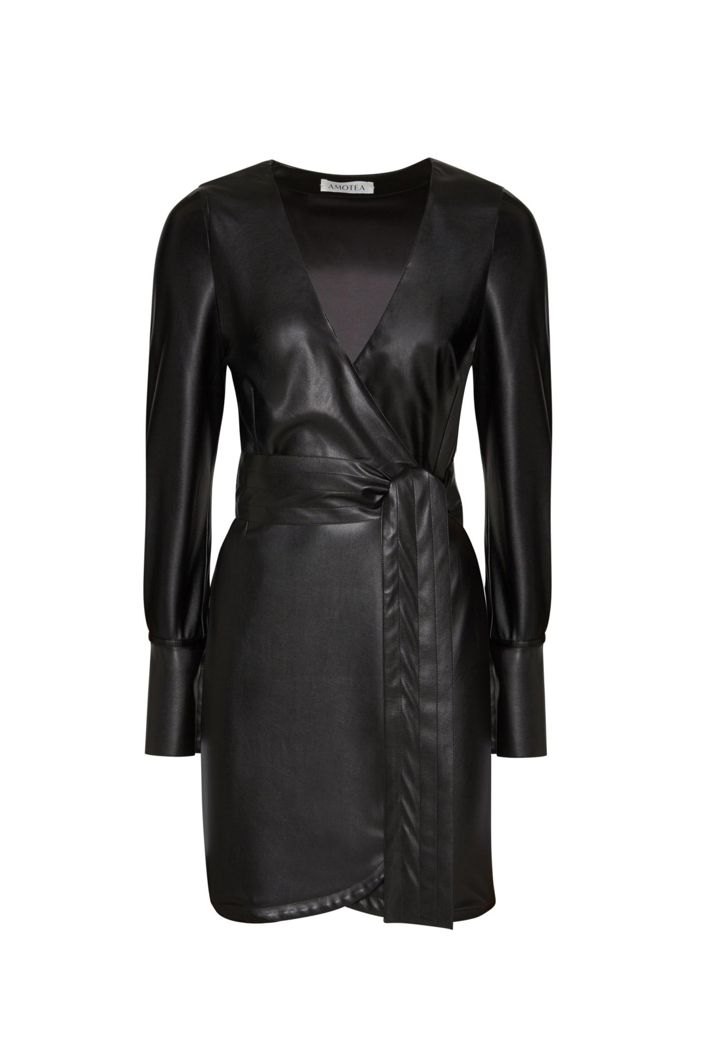 Clotilde Mini Dress In Grey Velvet