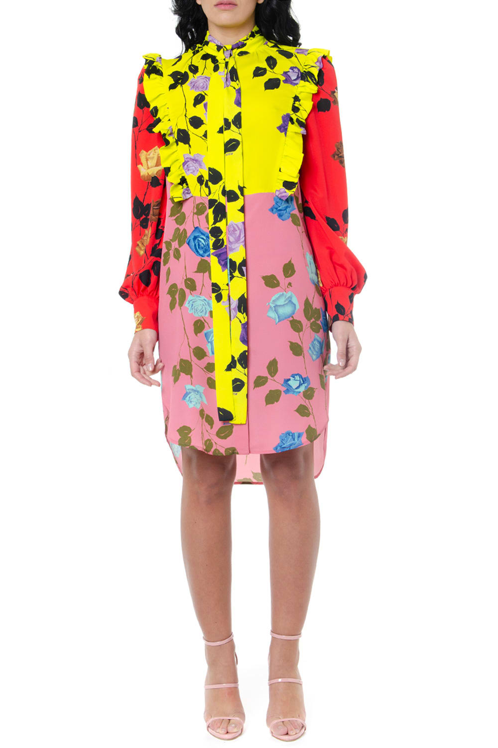 Buy MSGM Multicolor Flower Print Dress online, shop MSGM with free shipping