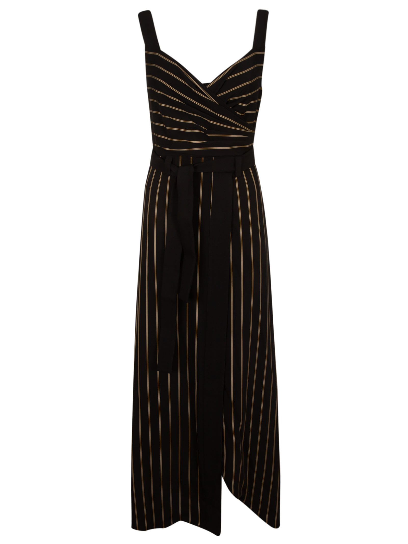 Buy Emporio Armani Sleeveless Striped Maxi Dress online, shop Emporio Armani with free shipping