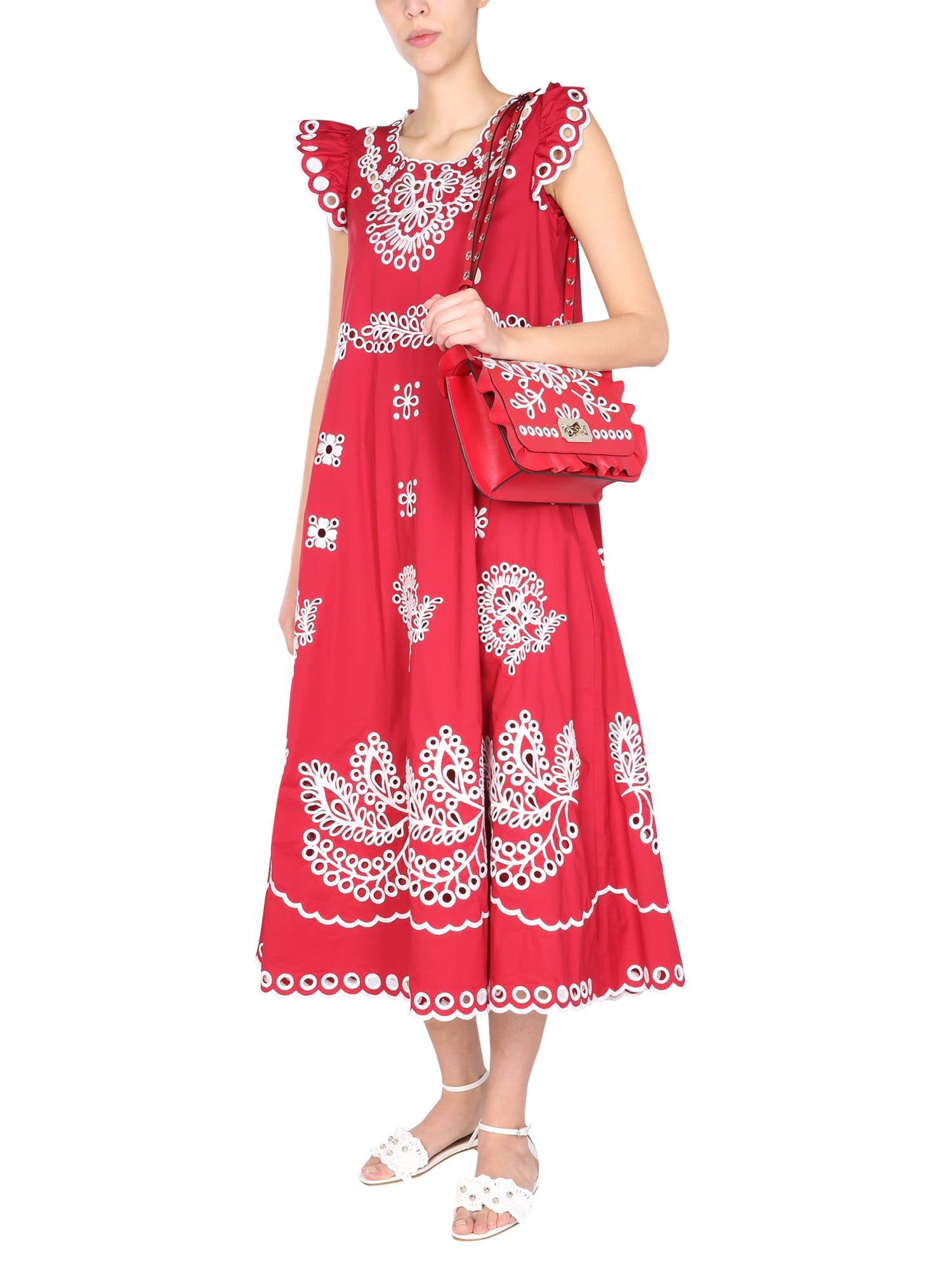 Buy Midi Dress RED Valentino online, shop RED Valentino with free shipping