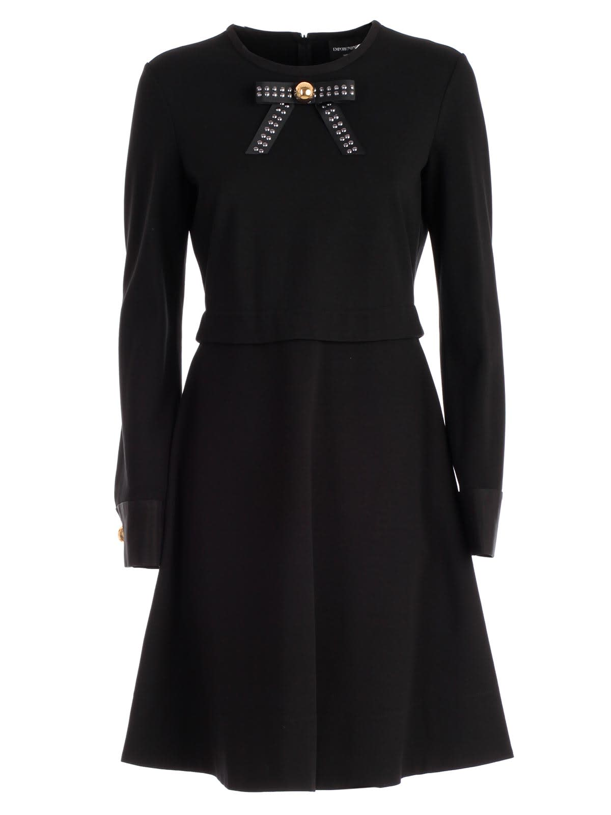Emporio Armani Bow Applique Dress