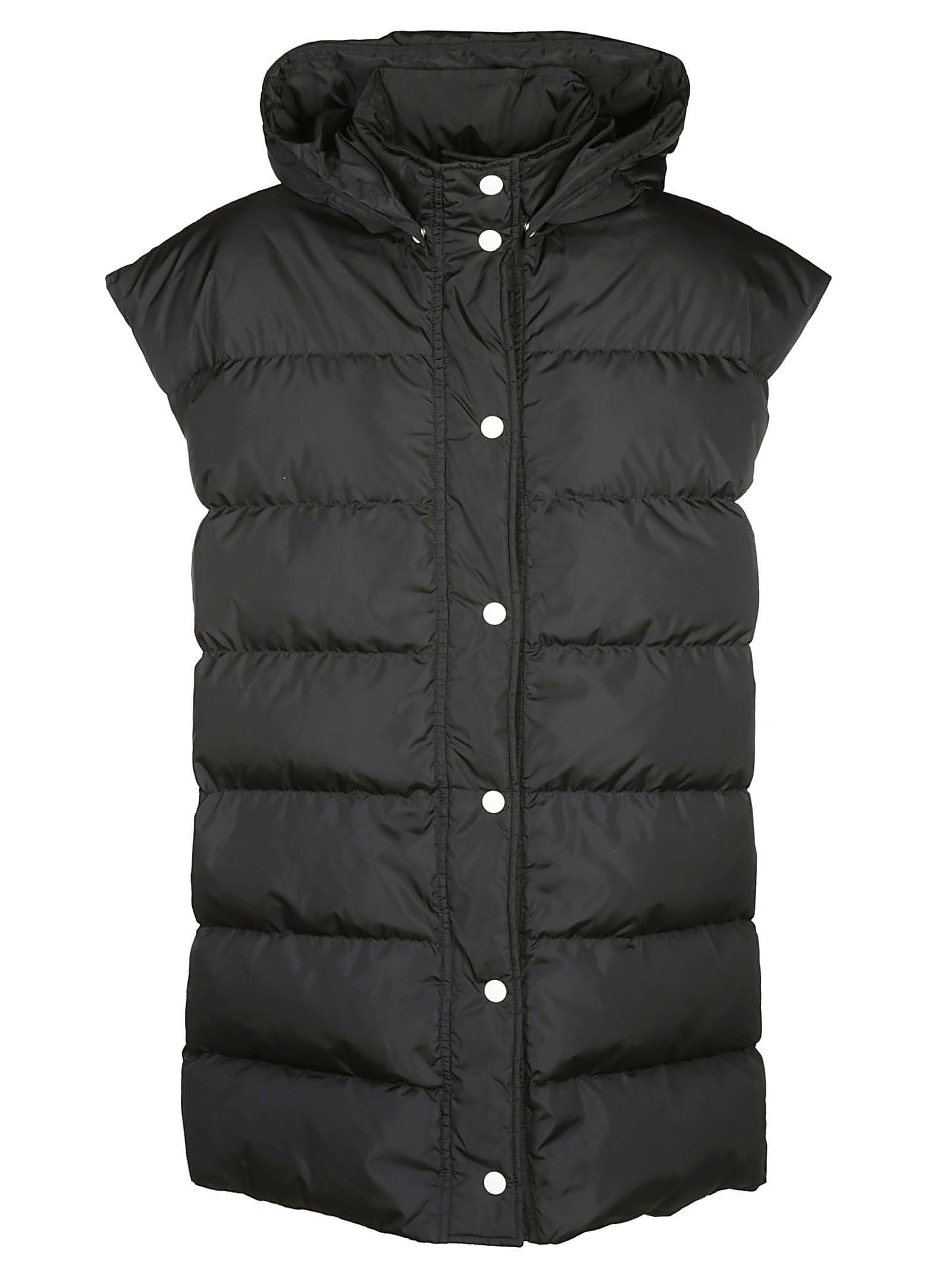 MSGM Sleeveles Hooded Down Jacket