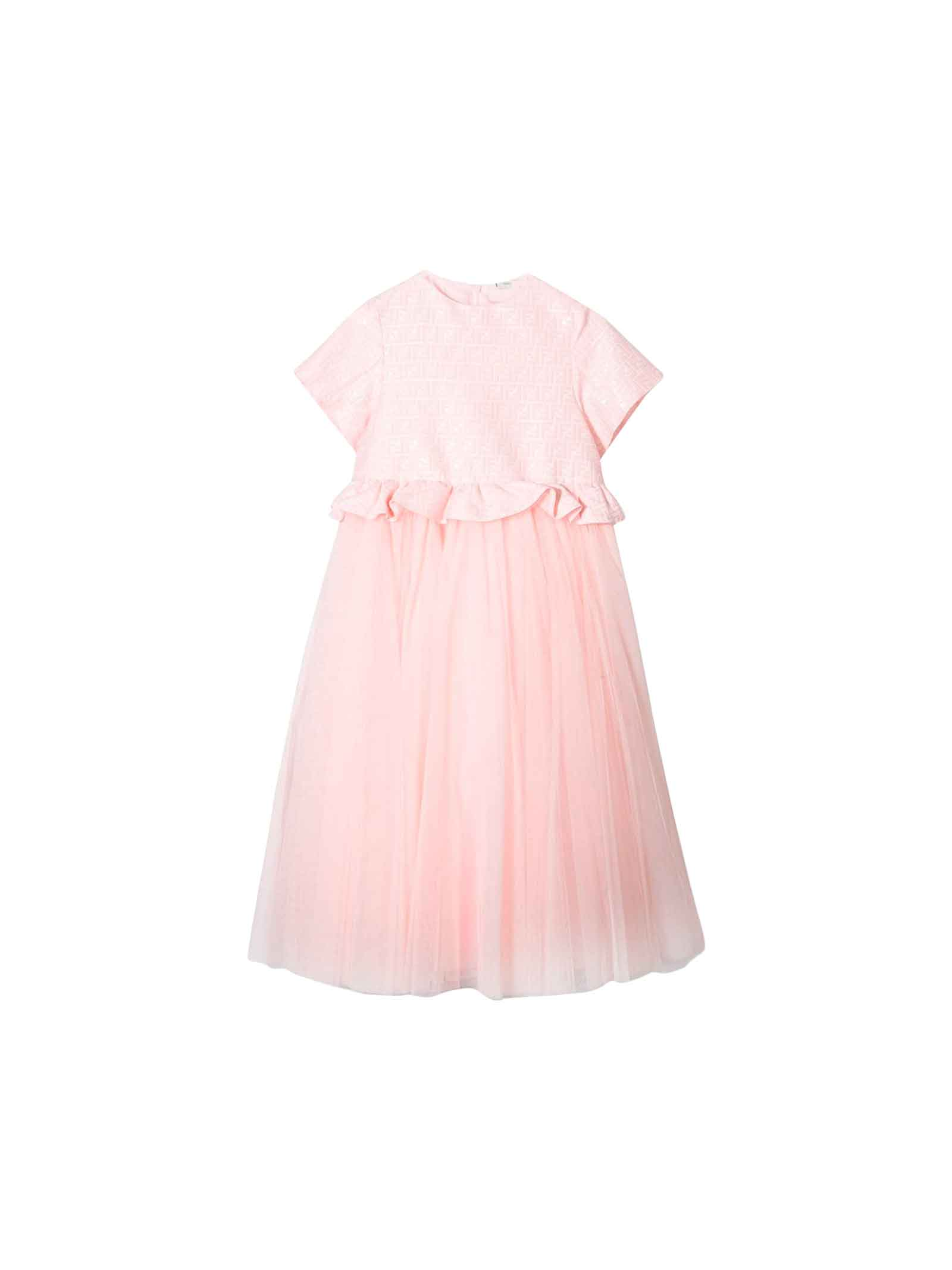newest 81397 c8814 Fendi Pink Girl Dress