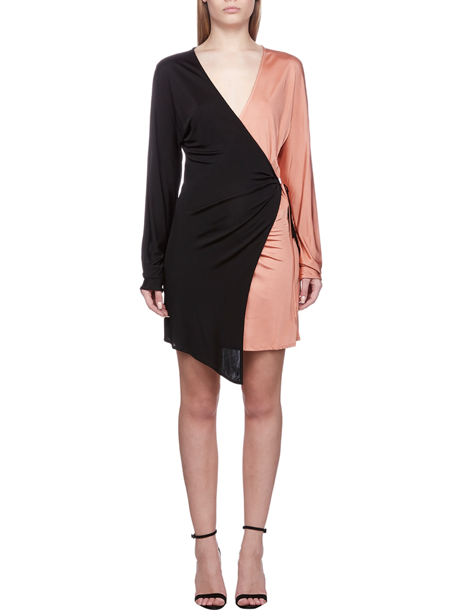 Buy The Attico Bicolor Wrap Dress online, shop The Attico with free shipping