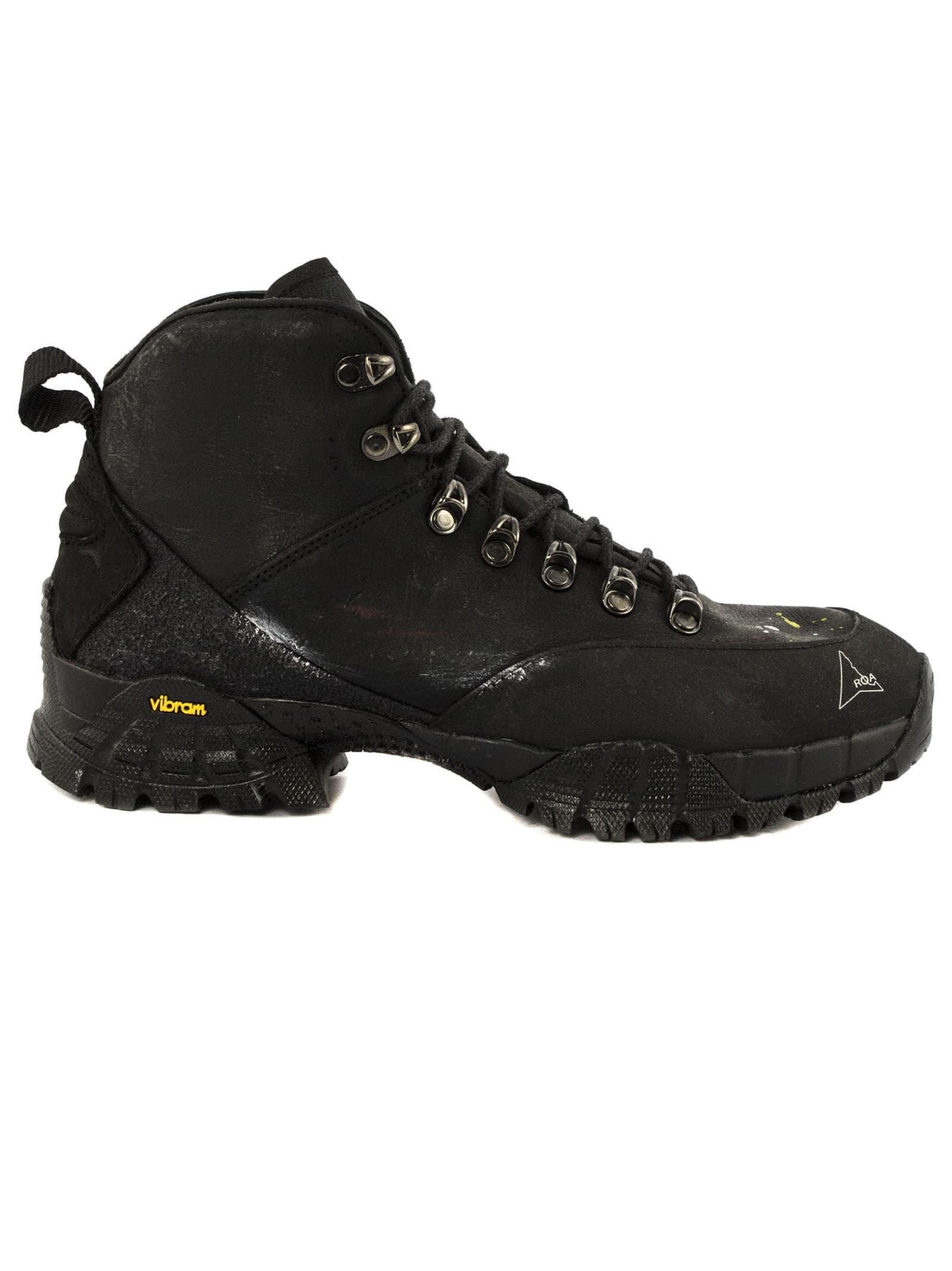 ROA Black Leather Boots