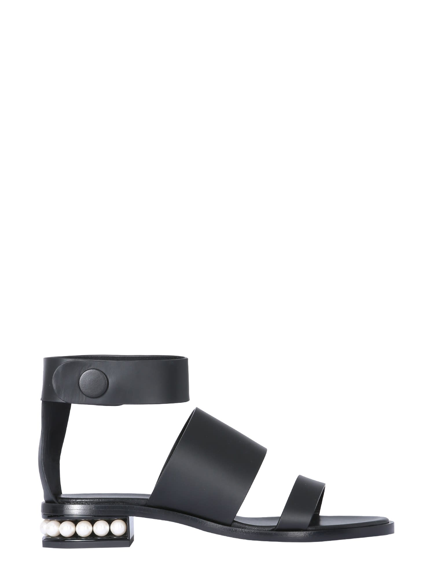 Buy Nicholas Kirkwood Casati Leather Sandal online, shop Nicholas Kirkwood shoes with free shipping