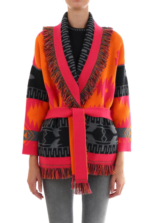 Alanui Cashmere Jacquard Coat
