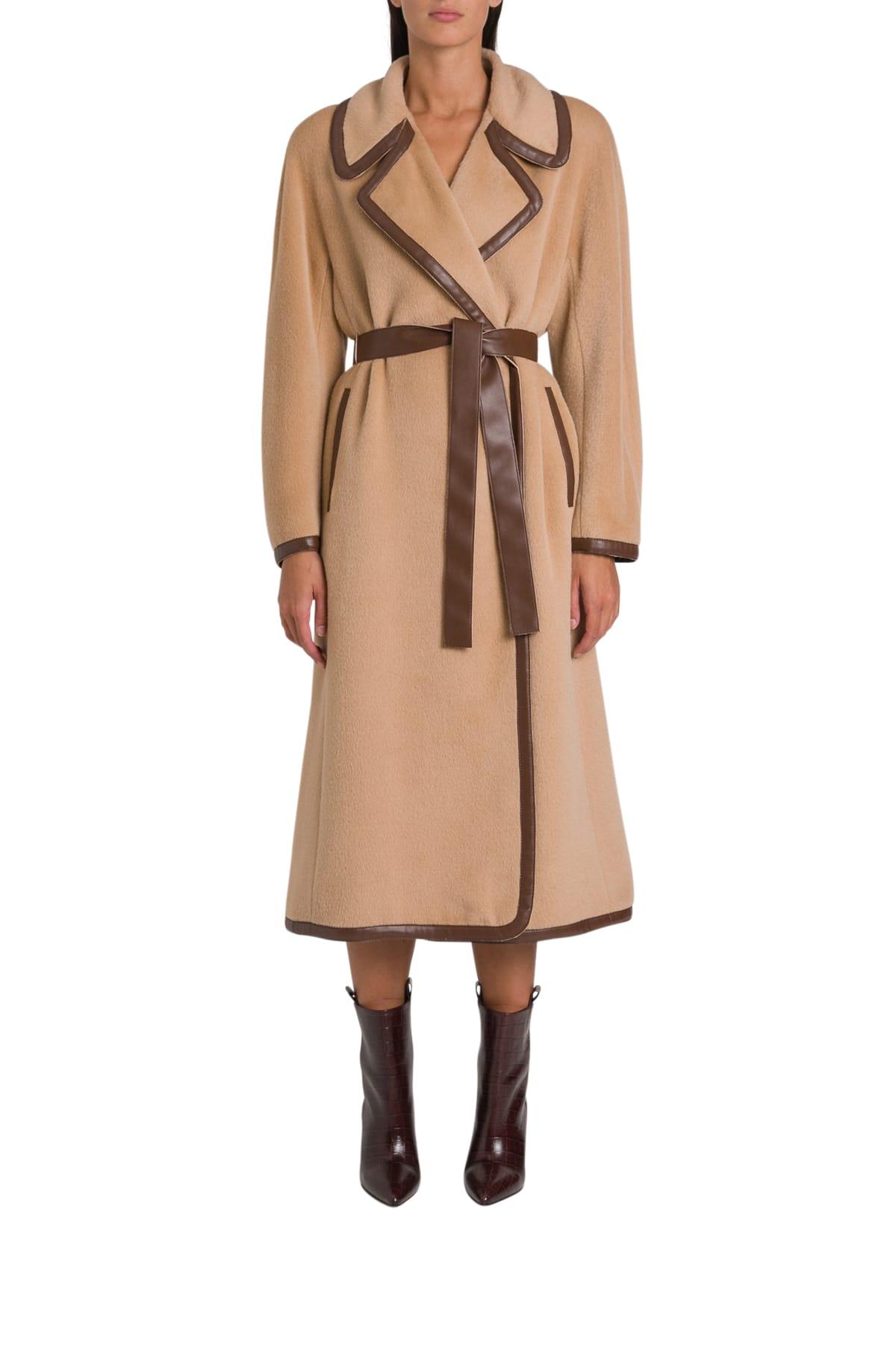 Alberta Ferretti Long Belt Coat