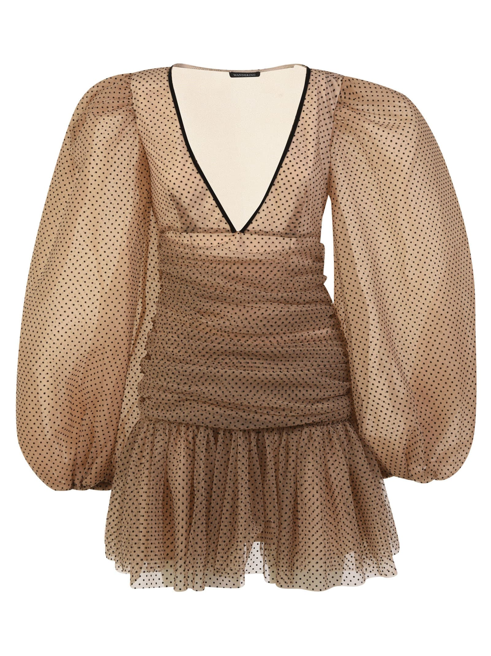 Buy WANDERING Polka Dot Mini Dress online, shop WANDERING with free shipping