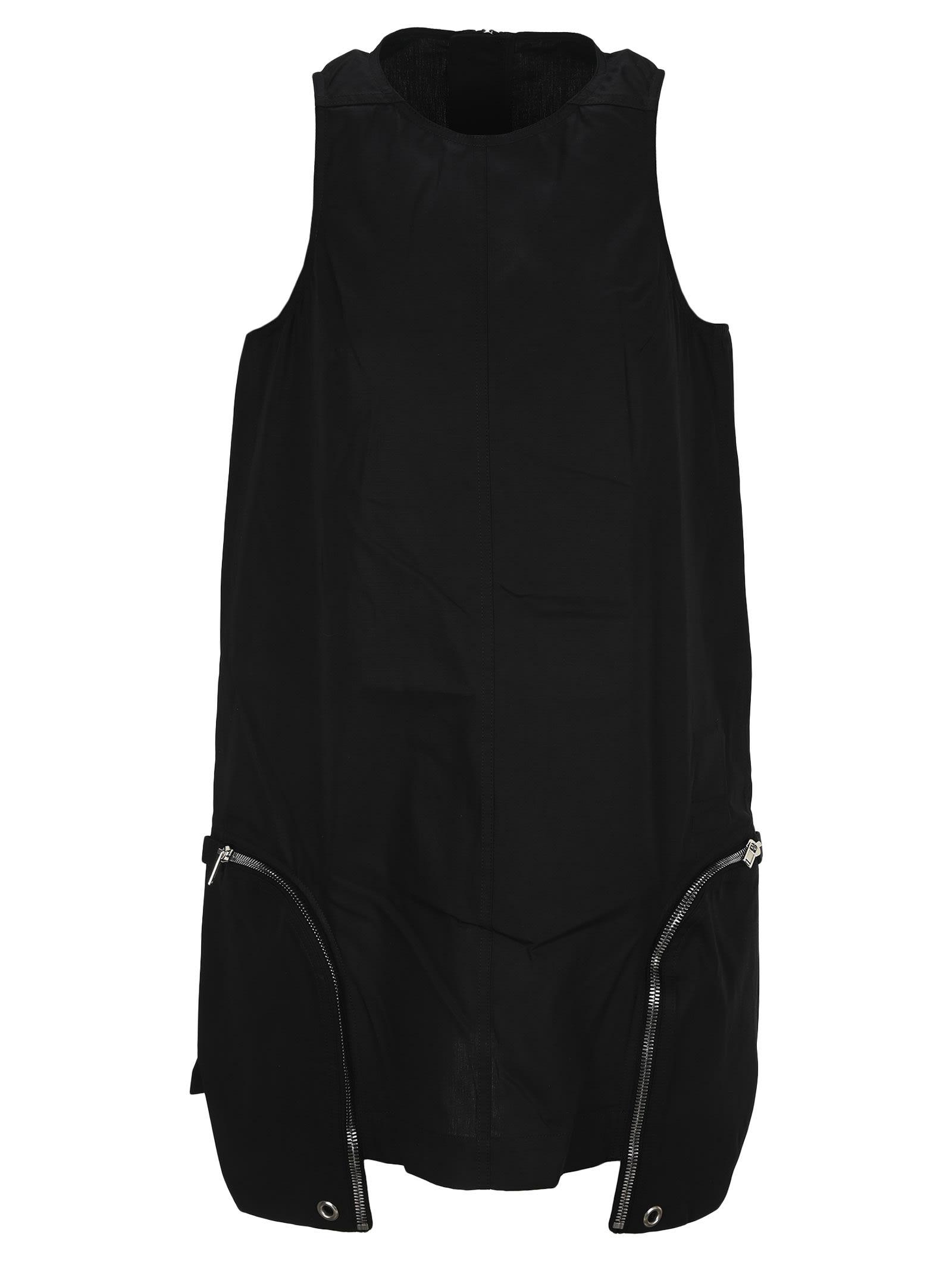 Dark Shadow Zip Details Dress