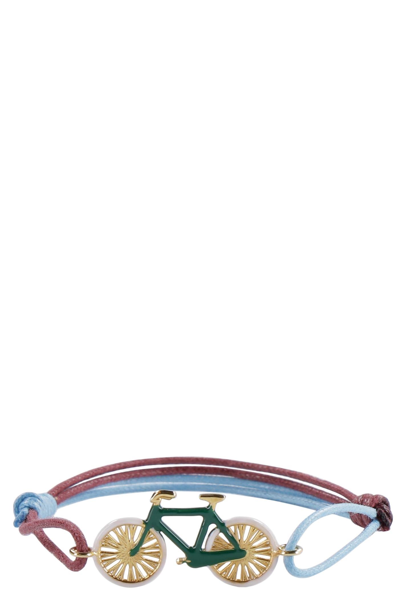 Bici Charm Cord Bracelet
