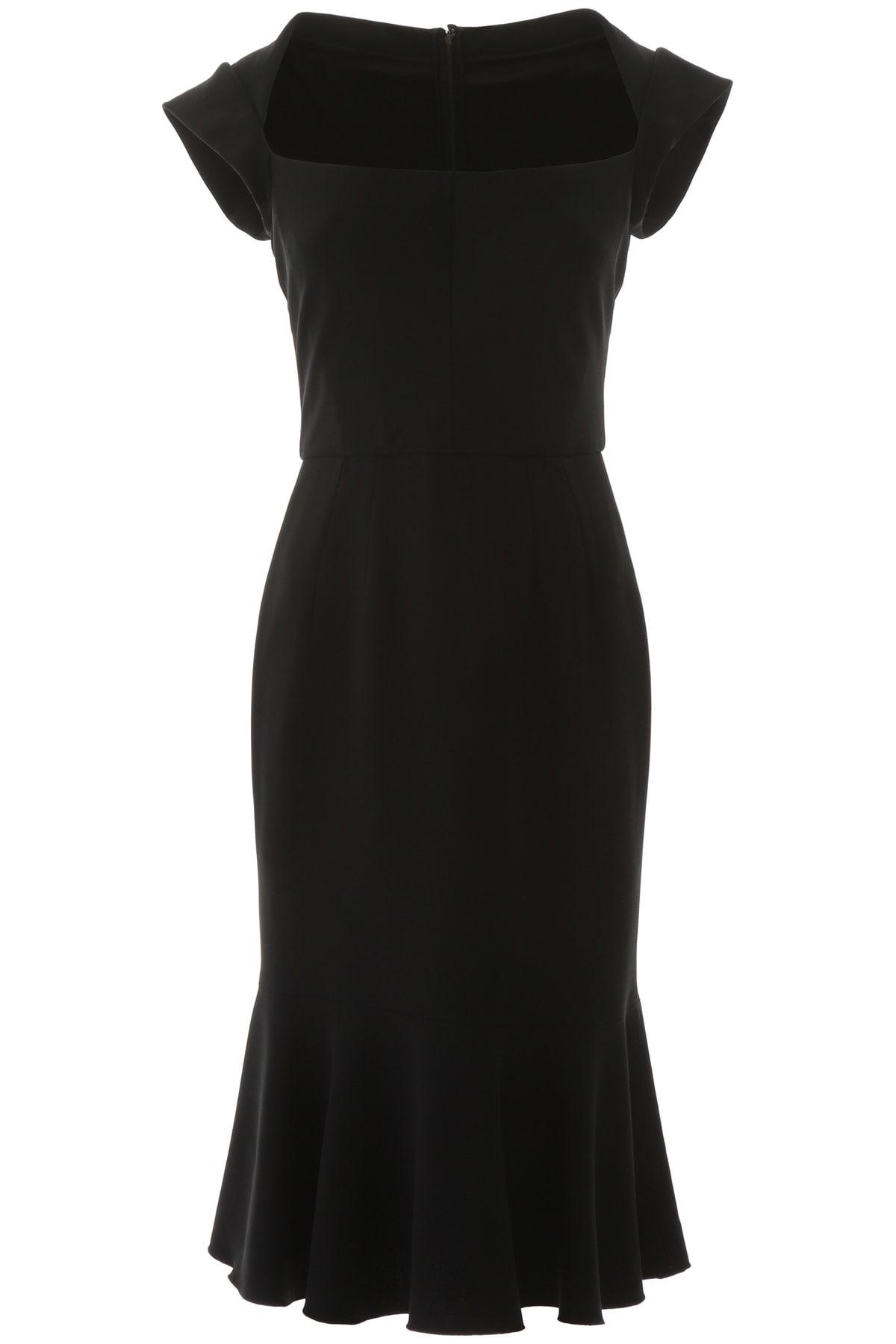 Buy Dolce & Gabbana Midi Cady Dress online, shop Dolce & Gabbana with free shipping