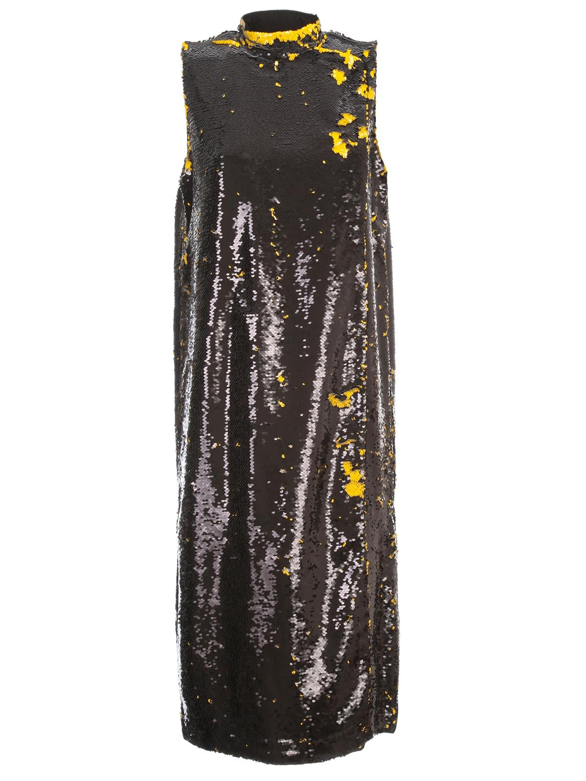 Buy Ganni Sequins Dress W/s Crew Neck online, shop Ganni with free shipping